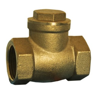 "1"" FPT 200 CWP T- Pattern Brass Swing Check Valve"
