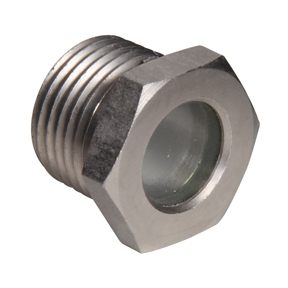 "Sight Glass CS Nickel Plated Body 1/2"" MPT"