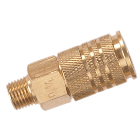 "Universal Interchange Coupler 1/4"" MPT Brass Body 250 psi"